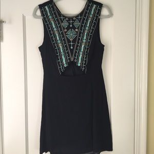 Nordstrom Leith Black Mini Dress